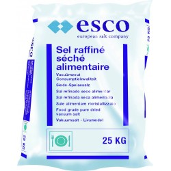 Esco / Sel alimentaire raffiné séché (25 Kg)
