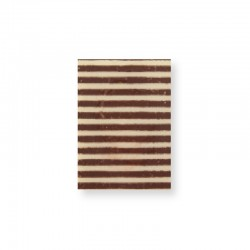 MB Products / Plaquette lignes marron 3,5 x 2,5 cm